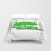 umbrella Duvet Covers featuring Umbrella by mailboxdisco