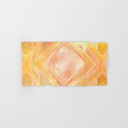 Mosaic Tile // Yellow Starburst Hand & Bath Towel
