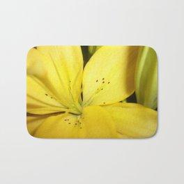 Yellow Tiger Lily Bath Mat