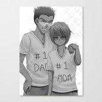 hunter x hunter Canvas Prints featuring Hunter x Hunter: #1 Parents by akayashi