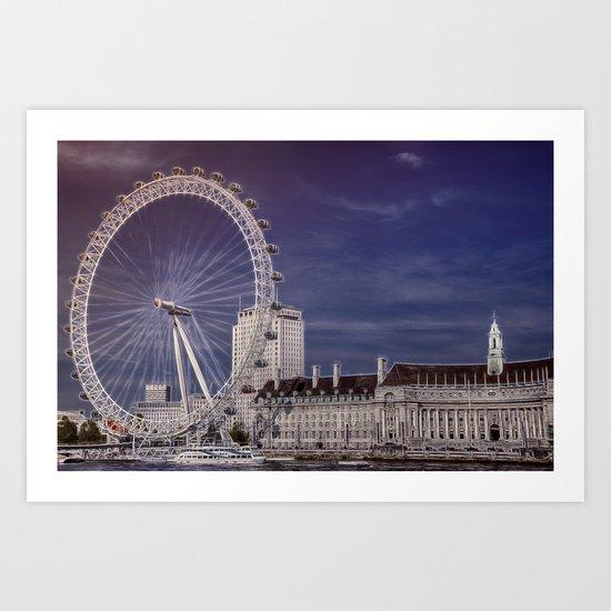 London Eye and the South Bank Art Print