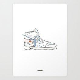 Jordan x Off-White II Art Print