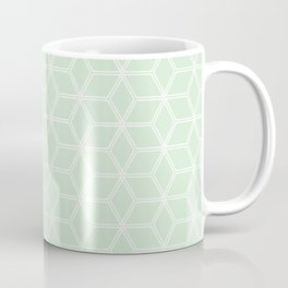 Geometric Hive Mind Pattern - Light Green #395 Coffee Mug