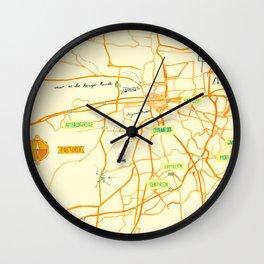 Maps - Pretoria Wall Clock