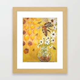 Honeybees Framed Art Print