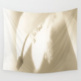 Wintery Day Dream White Flower On A Beige Background #decor #society6 Wall Tapestry