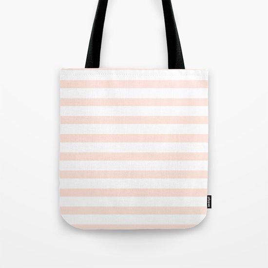 PEACH STRIPES Tote Bag