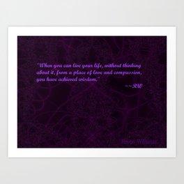 Achieve Wisdom Art Print