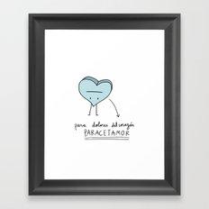 Paracetamor Framed Art Print