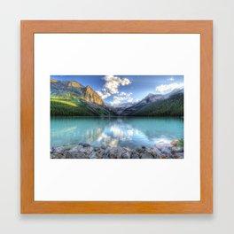 Morning Lake Framed Art Print