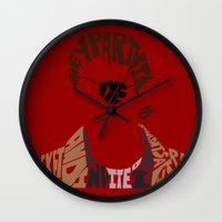 buffy Wall Clocks featuring xander harris buffy by Rebecca McGoran