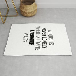 Labrador Retriever Cute Quote Rug