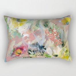 Abstract Floral Rectangular Pillow