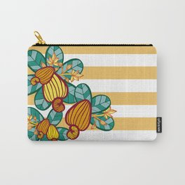 Orange Cashew Apple Carry-All Pouch