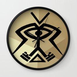 Twin Souls Merge Wall Clock