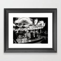Navy Pier's Carousel at Night Framed Art Print