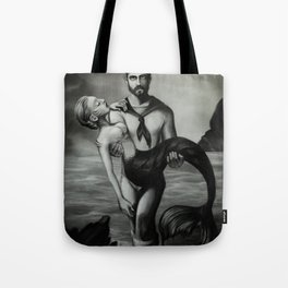 The Sailor and the Mermaid Tote Bag