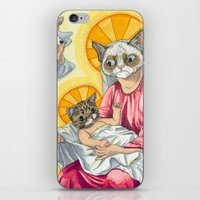 christ iPhone & iPod Skins featuring Internet Christ  by Quigley Down Under