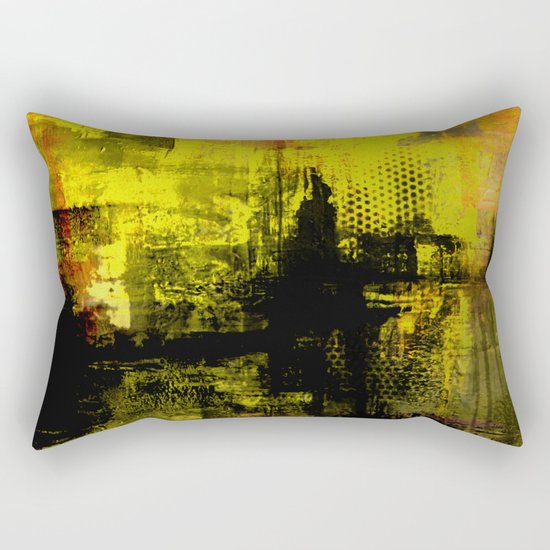 Sail Away - Abstract painting of a boat sailing into the horizon Rectangular Pillow