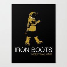 Iron Boots Canvas Print