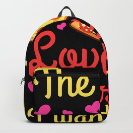 Love Triangle Pizza Slice Pepperoni Backpack
