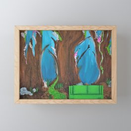 Fairy, Fairies. Abstract. Original Painting. Forest. Fantasy Forest. Fantasy. Jodilynpaintings. Framed Mini Art Print