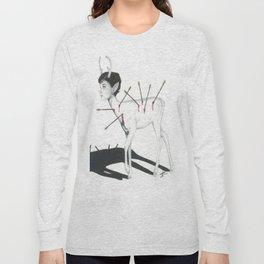 Audrey Hepburn Deer Long Sleeve T-shirt