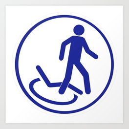 Parking zone for disabled Art Print