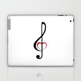 Heart music clef Laptop & iPad Skin