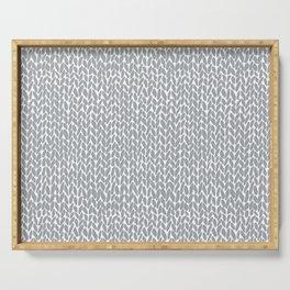 Hand Knit Light Grey Serving Tray
