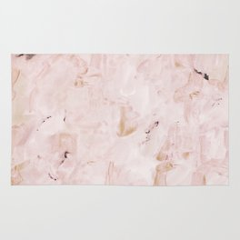abstract-soft pink Rug