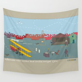 Wilbur and Orville Wright, 1903 (c) Wall Tapestry