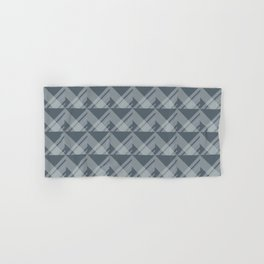 Modern Simple Geometric 5 in Peninsula Blue Hand & Bath Towel