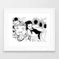 leo Framed Art Prints featuring Leo by Cassandra Jean
