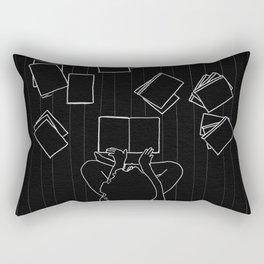 Avid book lover Rectangular Pillow