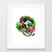 the joker Framed Art Prints featuring JoKER by BIG Colours