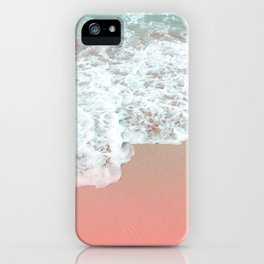 where sand meets water iPhone Case
