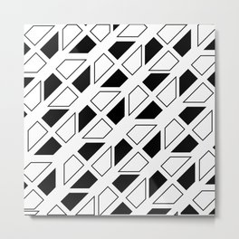 Black and White Trapezoid Metal Print