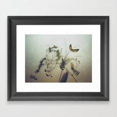 pine wings Framed Art Print