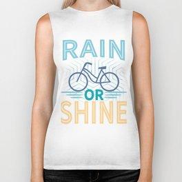 Rain or shine | Bike print | Cycling art Biker Tank