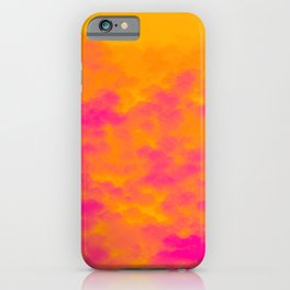 Rainstorm in a Rainforest During the Fall of the Sun iPhone Case