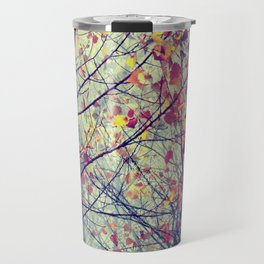 trees misty morning Travel Mug