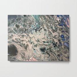 Blue is Deep Metal Print
