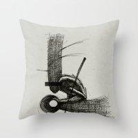 scott pilgrim Throw Pillows featuring Pilgrim I. by Dr. Lukas Brezak