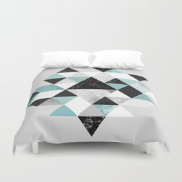 Graphic 202 Turquoise Duvet Cover