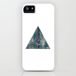 Aries Astrology Mixed Media iPhone Case