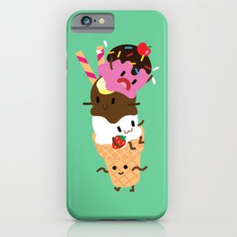 Neapolitan Ice Cream iPhone Case