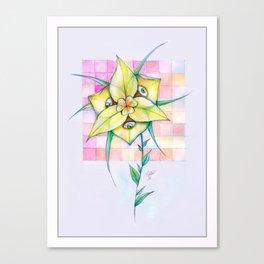 Triclops Flower Canvas Print