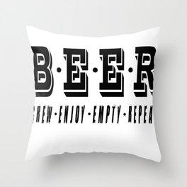 b.e.e.r   - I love beer Throw Pillow