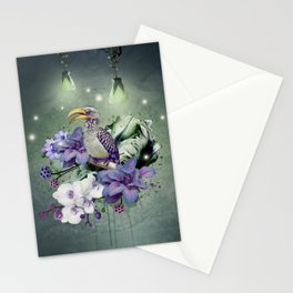 FLORAL MAGIC HORNBILL Stationery Cards